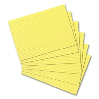 Index Cards, DIN A5, ruled, yellow