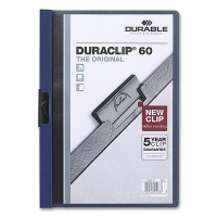 Clip Folder Duraclip 60 - A4 dark blue