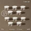 Table, round, white, 1:100