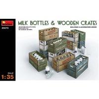 Milk Bottle in Crates, Scale 1:35