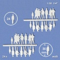 Silhouette Figures, white, 1:50, standing