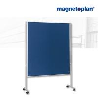 magnetoplan Kommunikationswand, blau