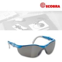 Schutzbrille verspiegelt, blauer Rahmen
