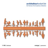 Figurenset Kinder, 1:100, orange