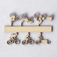 Bicycles Type 2, 1:200, beige