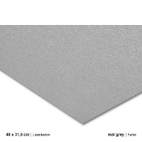 Laserkarton 48 x 63 cm, real grey