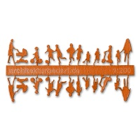 Figure Set Children, 1:200, orange