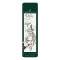 Graphite Aquarelle 5er Metalletui