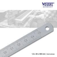 Stahlmaßstab 1,0 x 30 x 300 mm
