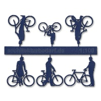 Bicycles with Cyclists, 1:100, darkblue