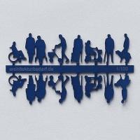 Figures Senior Citizens, 1:100, dark blue