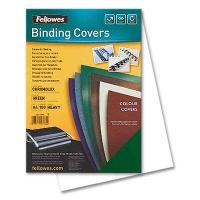 Fellowes Chromolux Cover Sheets, white