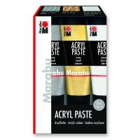Marabu Acrylic Paste, Starter Pack 3 x 100 ml