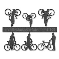 Bicycles with Cyclists, 1:100, darkgrey