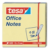 Tesa Office Notes, gelb, 75 x 75 mm