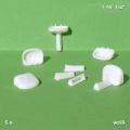 Waschbecken, 1:50, weiß, 5 Stück