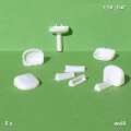 Washbasin, white, 1:50