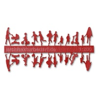 Figure Set Children, 1:200, red