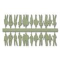 Figures, 1:100, light green