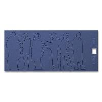 Cardboard Figures, 1:50, dark blue
