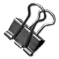 Foldback Clips, silver, 19 mm, Nickel