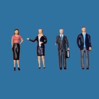 Modellfiguren 1:50 stehend, Geschäftsleute