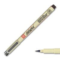 Pigma Brush, Brush Marker sepia dark
