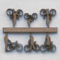 Bicycles with Cyclists, 1:200, lightbrown