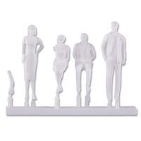 Modellfiguren 1:33 stehend und sitzend, weiß