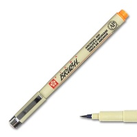 Pigma Brush, Brush Marker orange