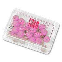 Alco Landkartennadeln 8 mm rosa