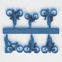 Bicycles with Cyclists, 1:200, lightblue