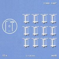 12 Einzel- und 12 Doppelleuchten 1:500