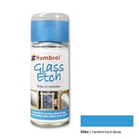 Humbrol Acrylic Spray, Glass Effect, blue