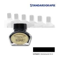 Zeichentusche 30 ml Glas, schwarz