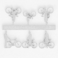 Bicycles with Cyclists, 1:200, white
