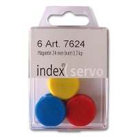 Rundmagnete 24 mm farbig sortiert