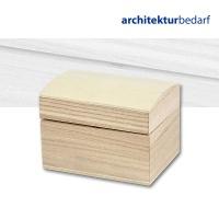 Holzschatulle mit gewölbtem Deckel