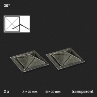 Oberlichter Pyramide 30°, 2 Stück