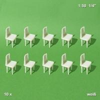 Stühle, weiß, 1:50, 10 Stück