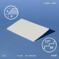 Treppenplatte 17°, weiß, 1:500