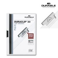 Klemmmappe Duraclip 30 - A4 weiß