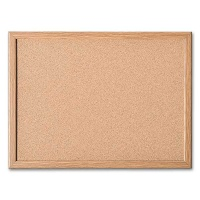 magnetoplan Cork Board with wooden Frame, 400 x 300 mm