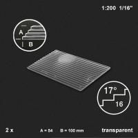 Treppenplatte 17°, transparent, 1:200