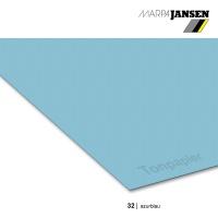 Tonzeichenpapier 130g/m² DIN A4, 32 azurblau