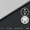 Polystyrene Bulb Plate 1 mm, 2-bar, 1,5 mm Length