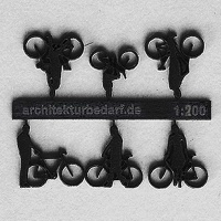 Bicycles with Cyclists, 1:200, black