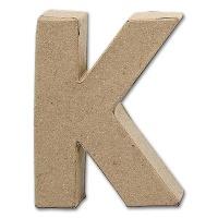 Letter Papier Mâché - K