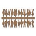 Figures, 1:100, light brown