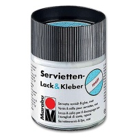 Servietten-Lack&Kleber 50 ml Glas matt